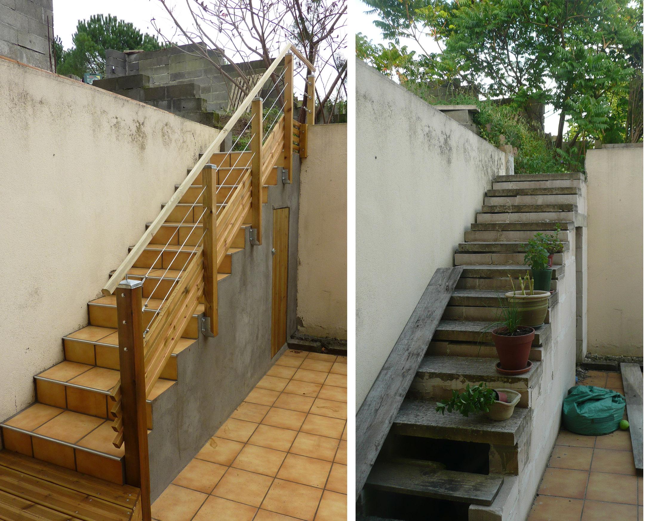 changer rambarde escalier bois best escaliers with changer rambarde escalier bois cool rampe. Black Bedroom Furniture Sets. Home Design Ideas
