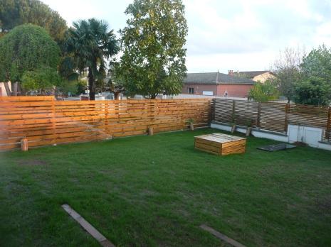 traverses, clôtures et puit
