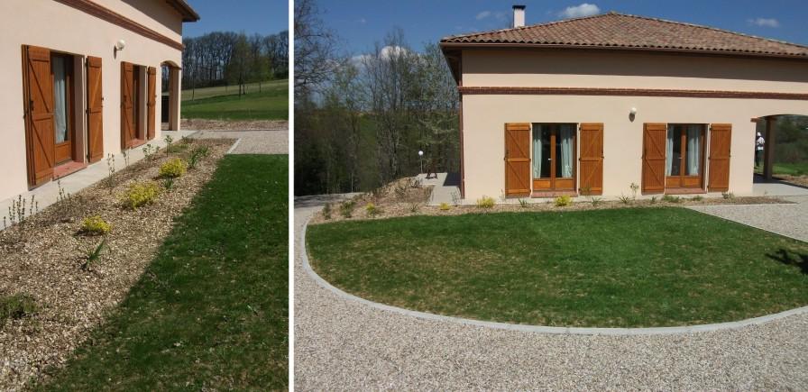 Gazon constans paysage - Delimiter terrasse et pelouse ...