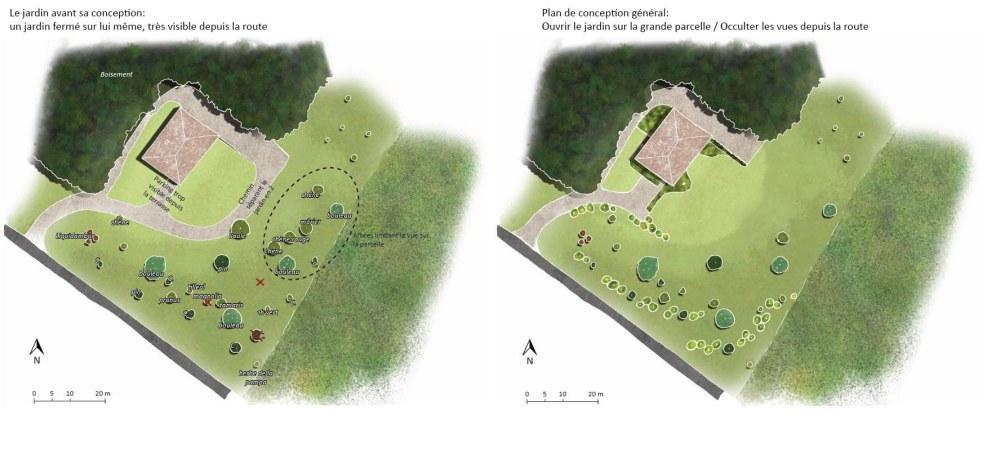 plan de conception général Avant / Après