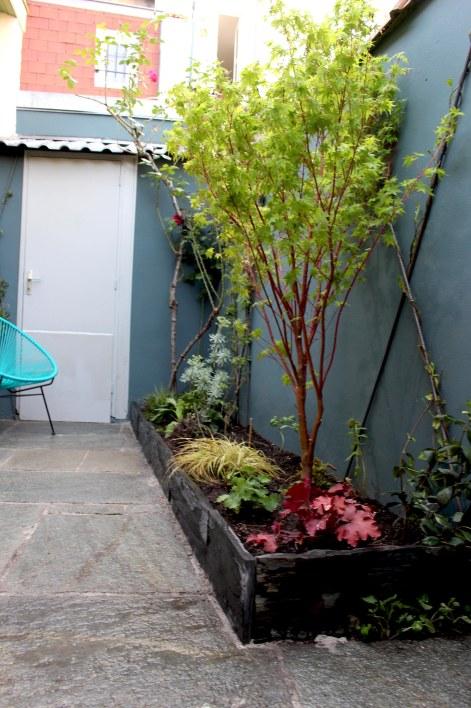Jardinière Erable et bordure schiste