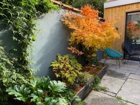 jardinière à l'automne
