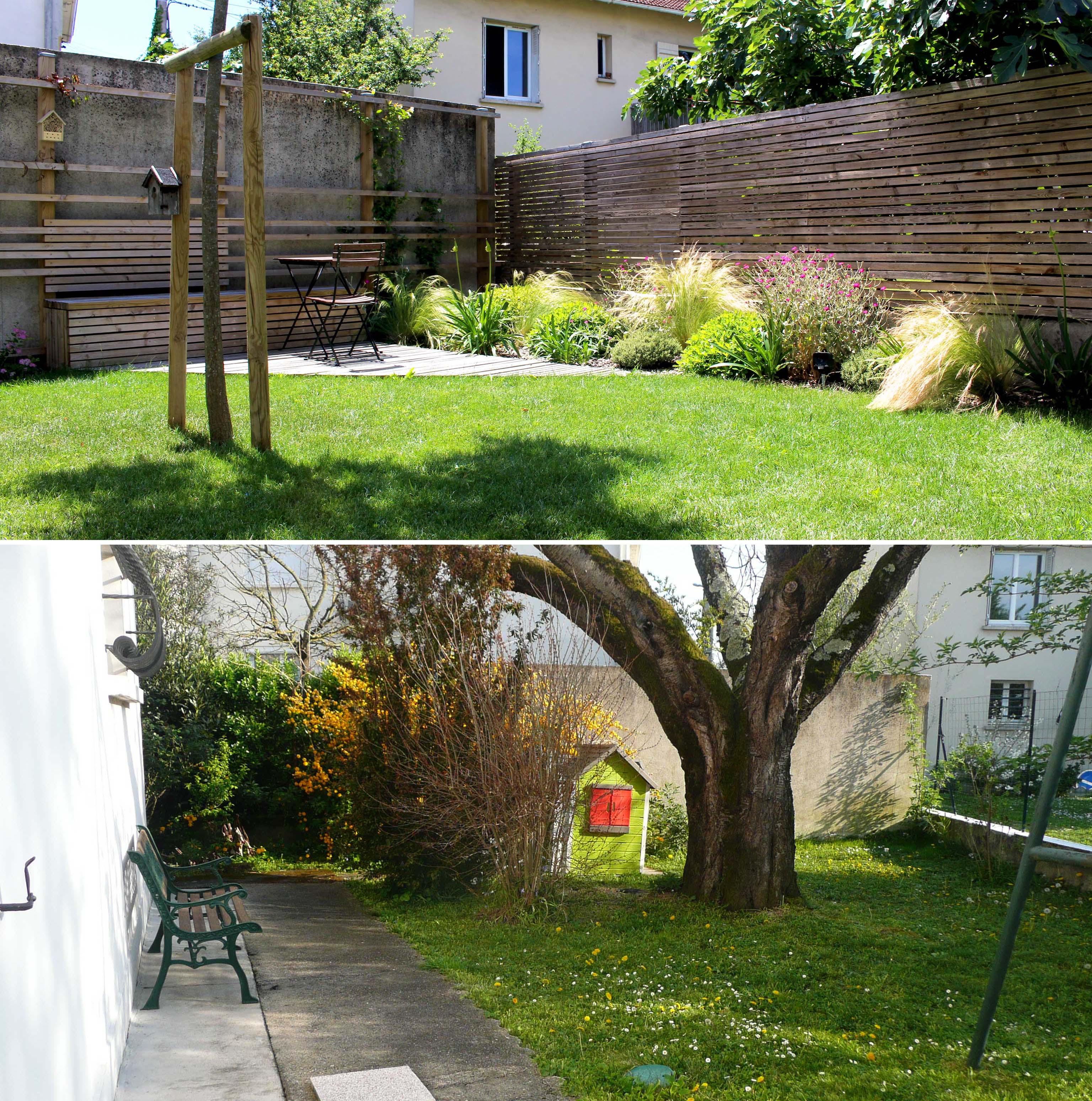 amenagement exterieur jardin avant apres petit jardin zen exterieur idees de dcoration amenager. Black Bedroom Furniture Sets. Home Design Ideas