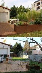 Avant / Après terrasse arrière