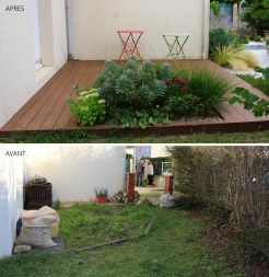 Avant / Après terrasse avant